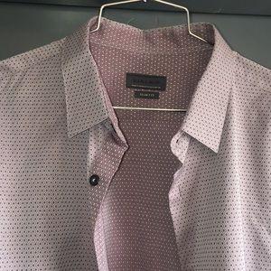 Zara - XL Slim Fit. Purple Diamond Pattern.